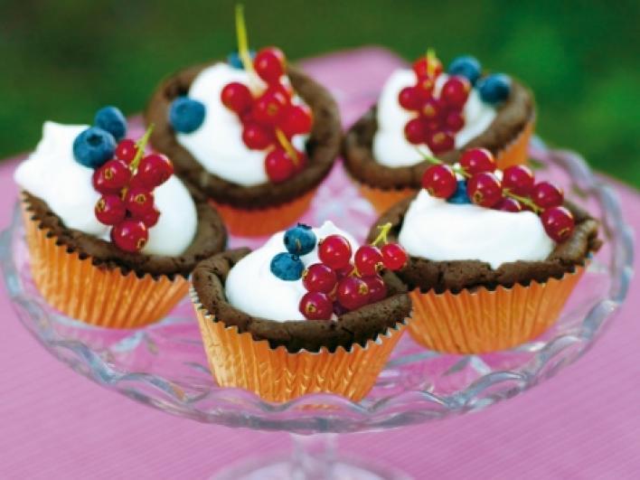 Kladdkaka muffin