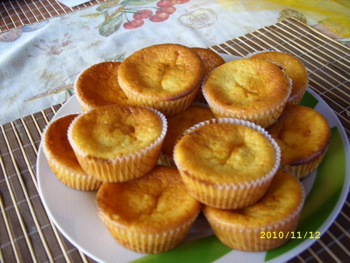 Krémes, citromos muffin