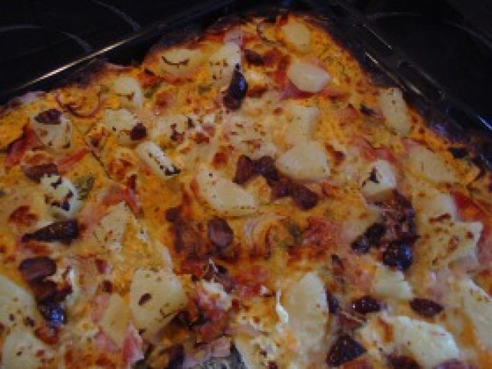 Hawai  pizza házilag