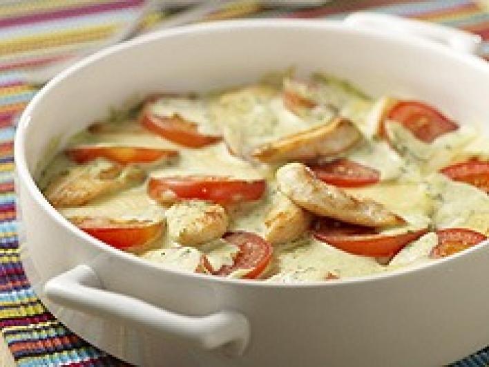 Tejszínes-mozzarella sajtos csirkemell