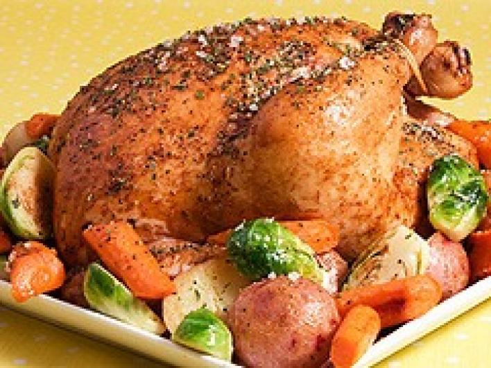 Csirke lengyelesen, mazsolával