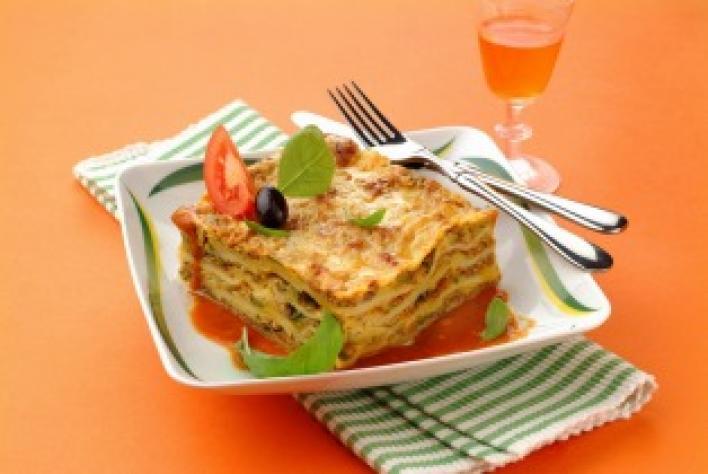 Cukkinis lasagne