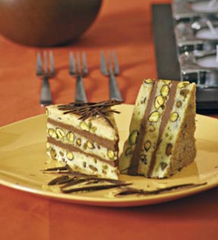 Csokis pisztáciatorta