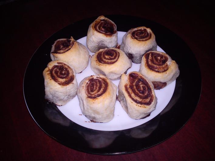 Mini kakaós csiga leveles tésztából