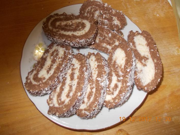 Kókuszos diabetikus keksztekercs