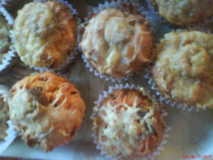 Kolbászos muffin