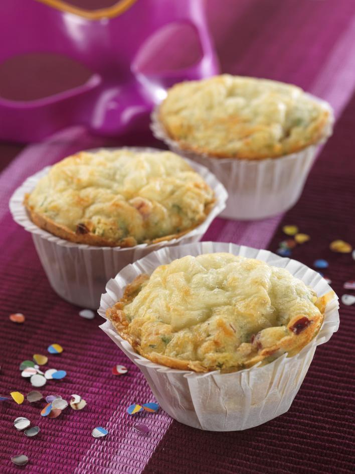 Fokhagymás, sonkás muffin