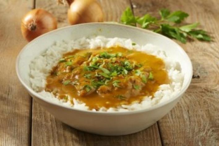 Csirke curry egyszerűen
