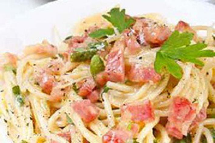 Spagetti carbonara szalonnával