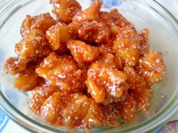 Kínai szezámmagos csirkemell