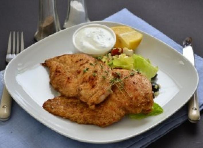 Görög csirkemell fetás bulgur salátával