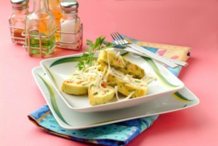 Zöldséges sajtos tojáslepény