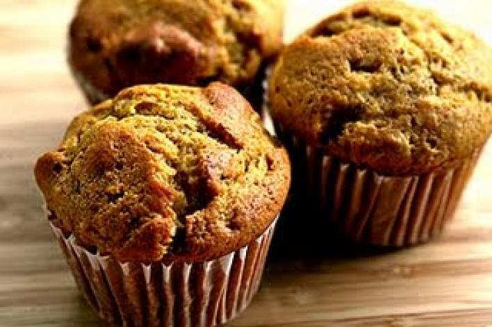 Sütőtökös-diós muffin