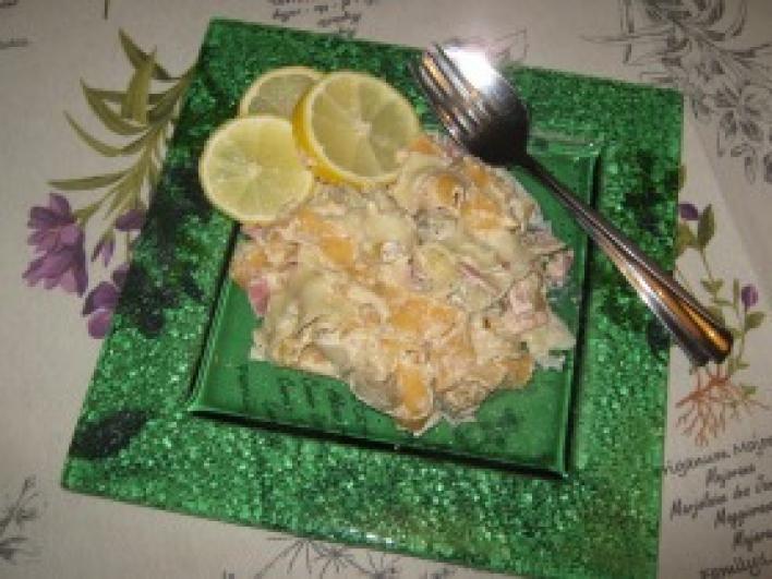 Padlizsános paprikás tészta szalonnával