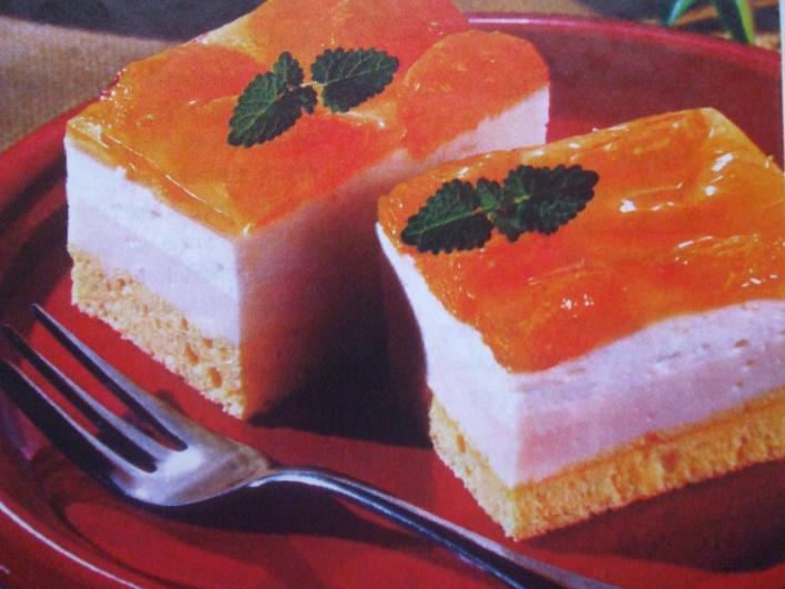 Mandarinos, joghurtos szelet