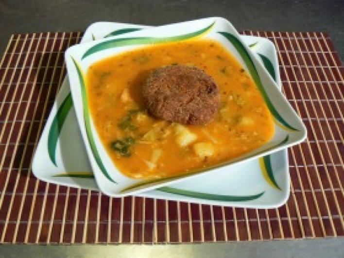Kelkáposzta főzelék fokhagymásan