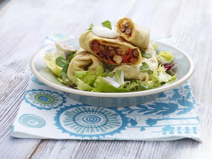 Burritos csirkével és zöldségekkel