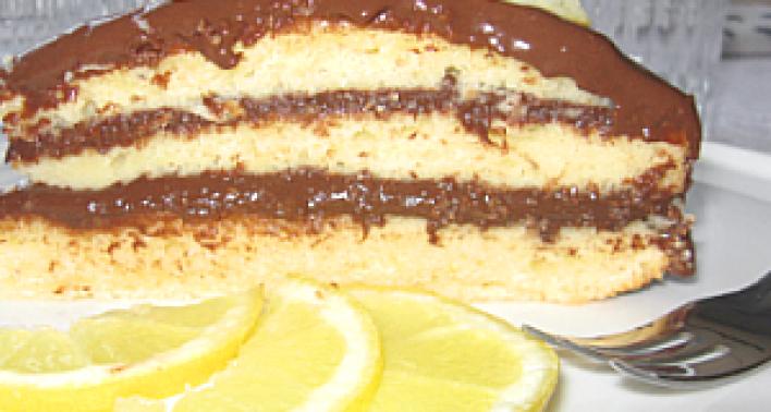 Citromos csokoládétorta