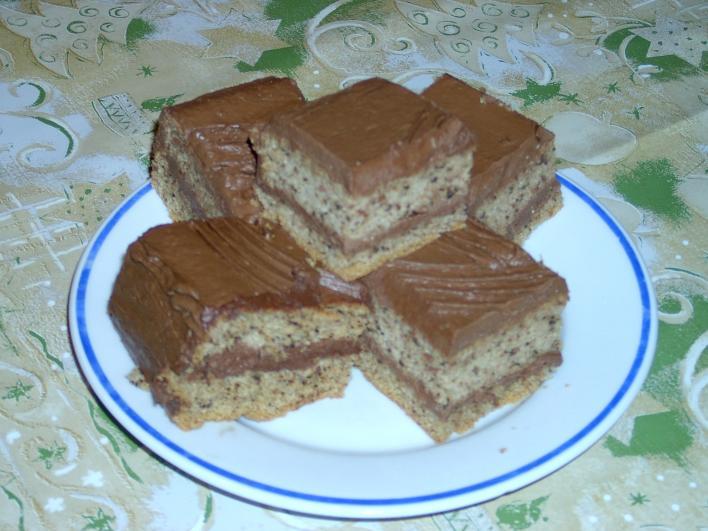 Diós-csokis szelet