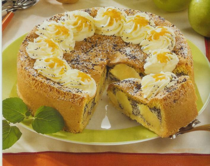 Almás-mákos torta