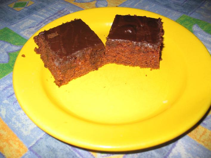 Csokimázas piskóta