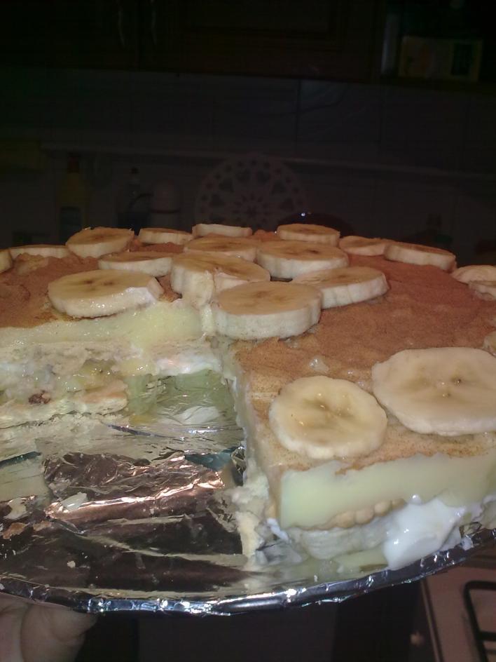 Banános kekszes sütés nélkül