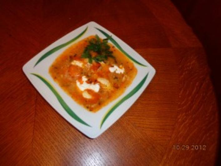 Rántott leves zöldséggel és tojással