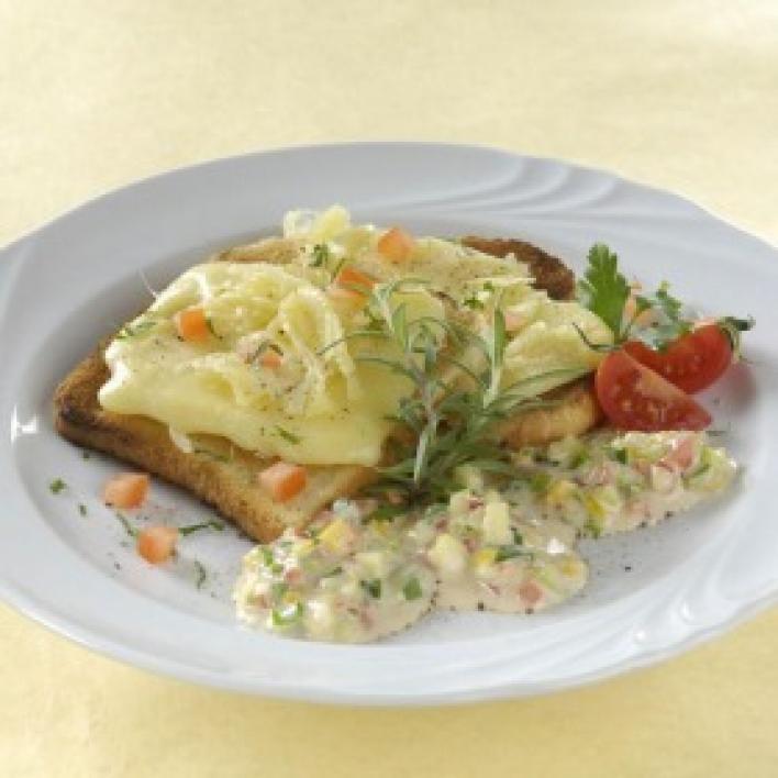 Grillezett sajt zöldséges mártogatóssal