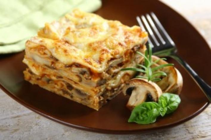 Lasagne erdei gombával