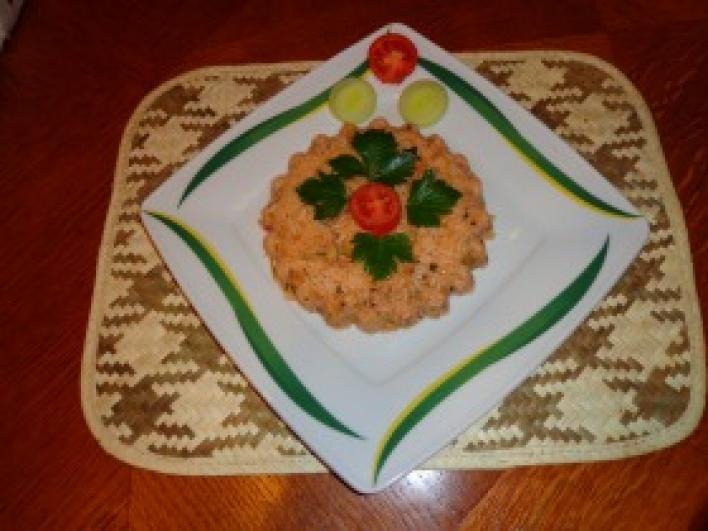 Thai padlizsános, paradicsomos rizs