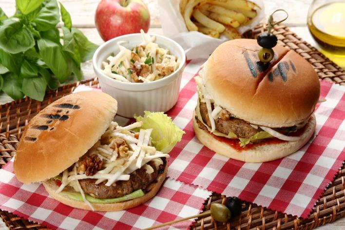 Zöldséges pulyka burger