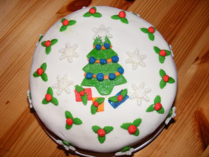 Mézeskalács krémes,karácsonyi fondant torta