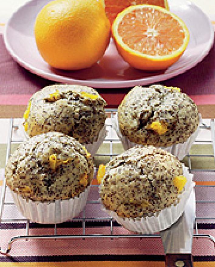 Mákos narancsos muffin