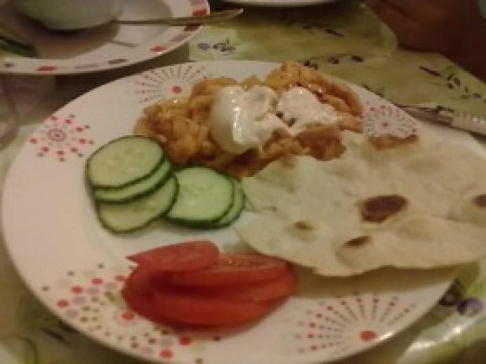 Mexikói csirke házi tortillával