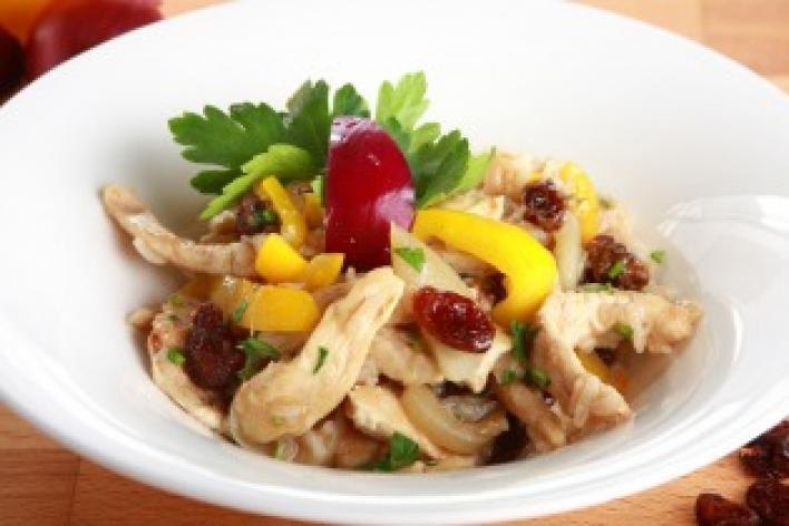 Fahéjas csirke korianderrel és rizzsel