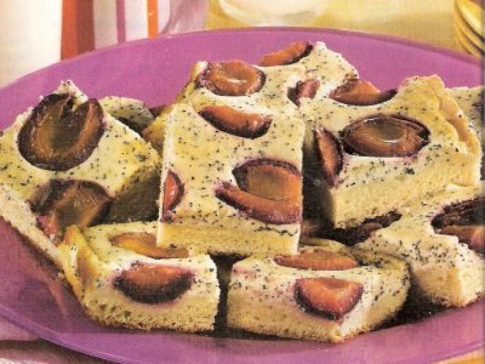 Szilvás-mákos pite