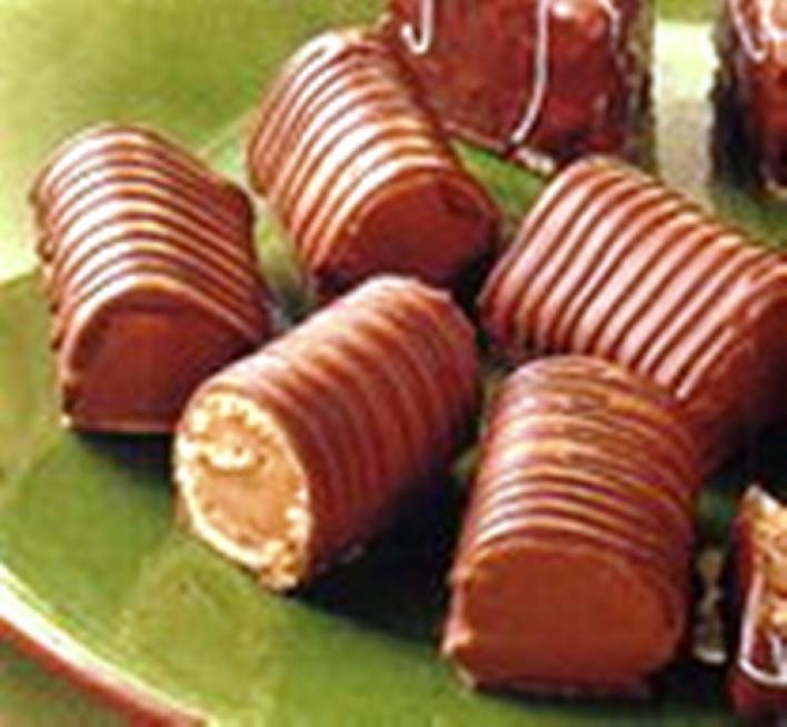 Csokoládélikörős hengerek