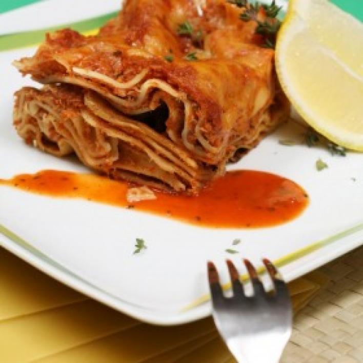 Paradicsomos halas Lasagne