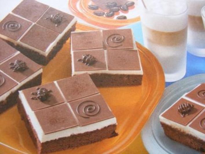 Csokoládés, túrós kocka