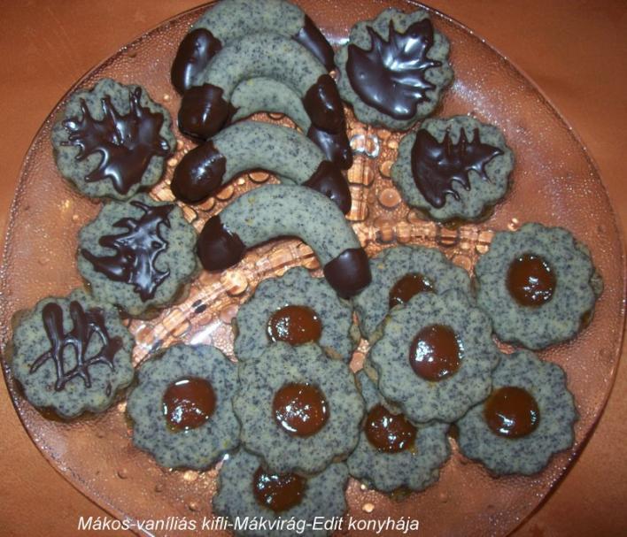 Mákos-vaníliás kifli, mákvirág