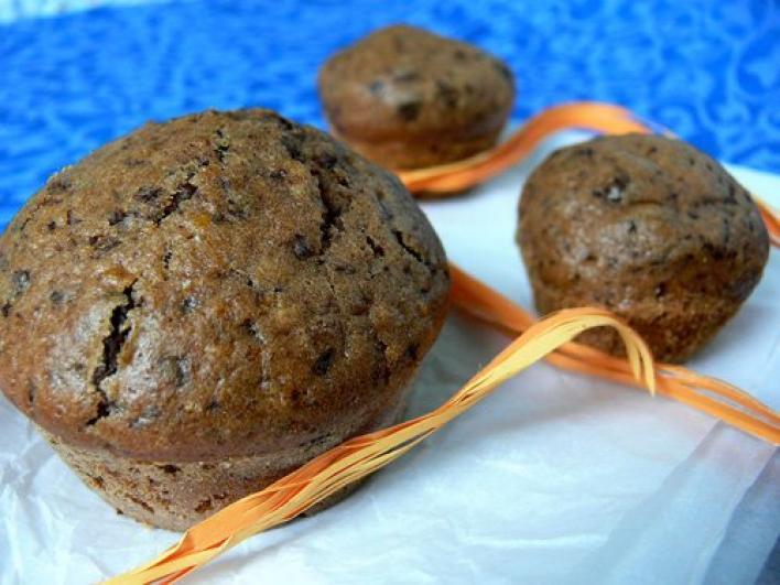 Narancsos, csokis muffin