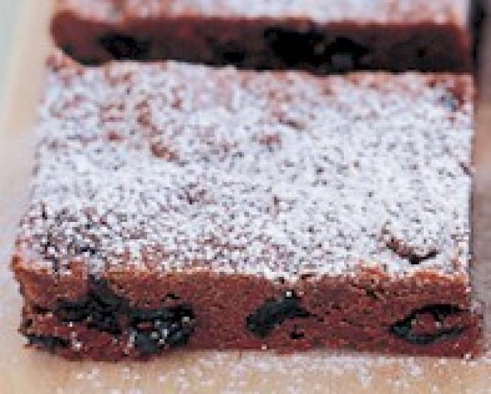 Csokis-rumos szelet mazsolával