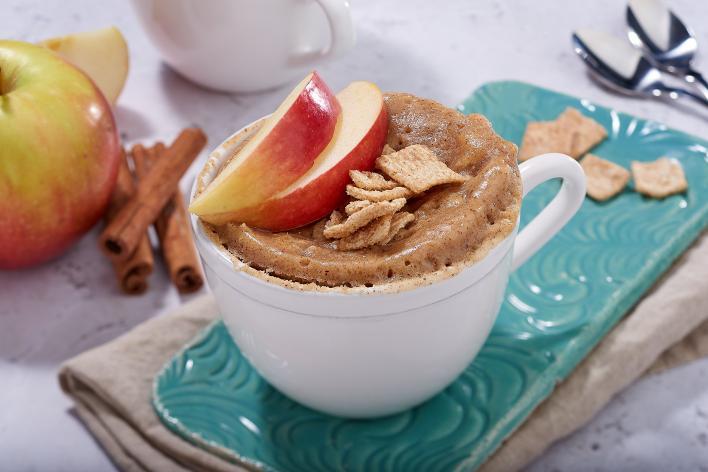 Fahéjas-almás reggeli bögrés sütemény