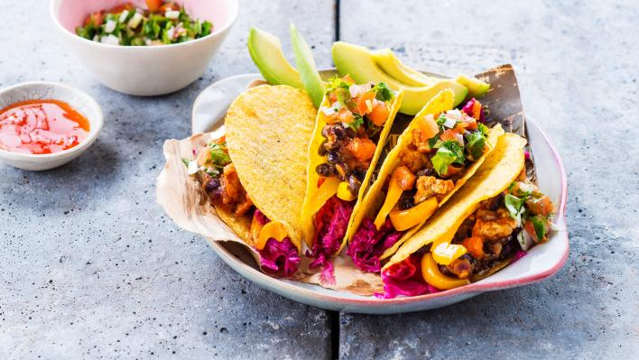 Zöldséges Taco