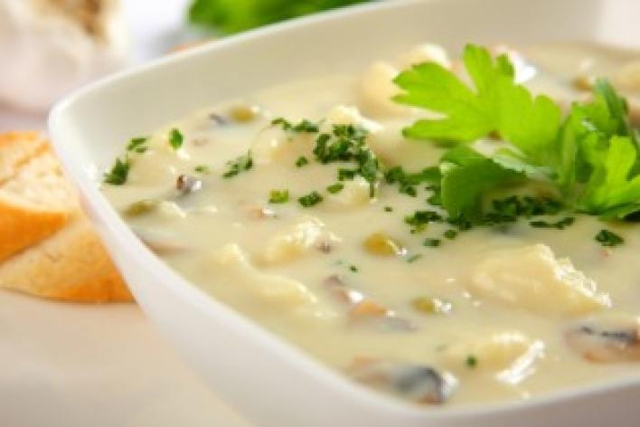 Gombás karfiol leves