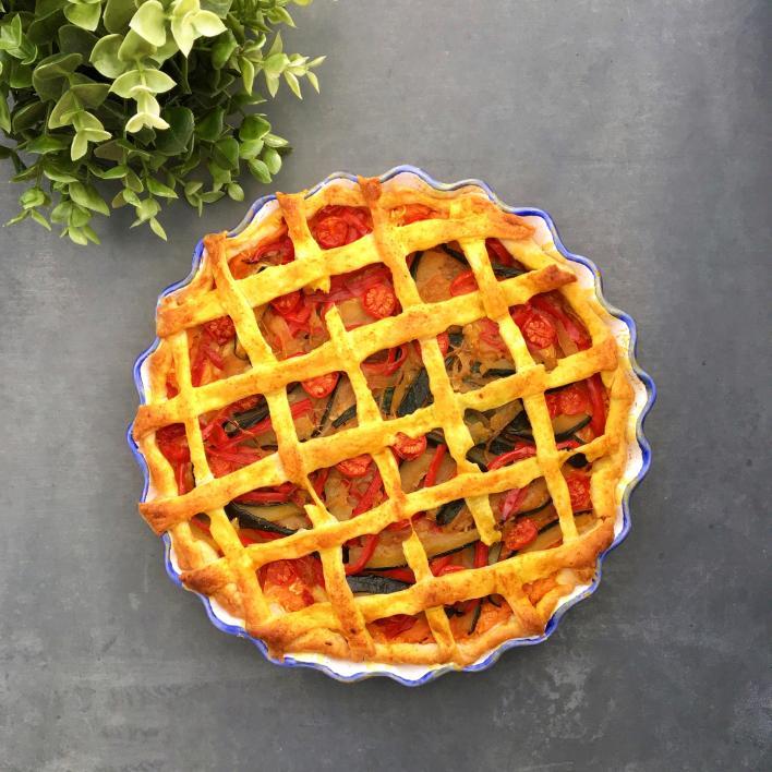 Édesburgonyás zöldséges pite - Garádi Zsofka konyhájából