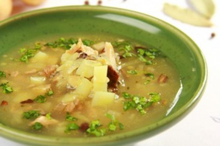 Krupnik (Lengyel árpagyöngy leves gombával)