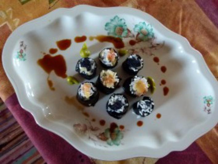 Noémi első sushija