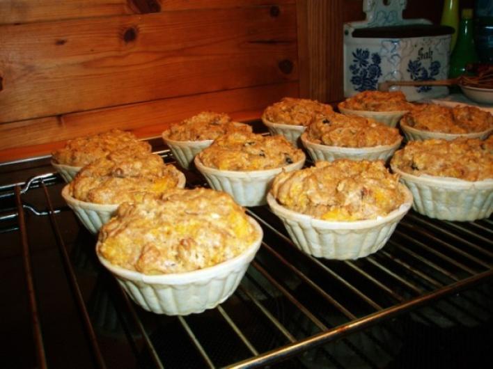 Almás-tökös muffin