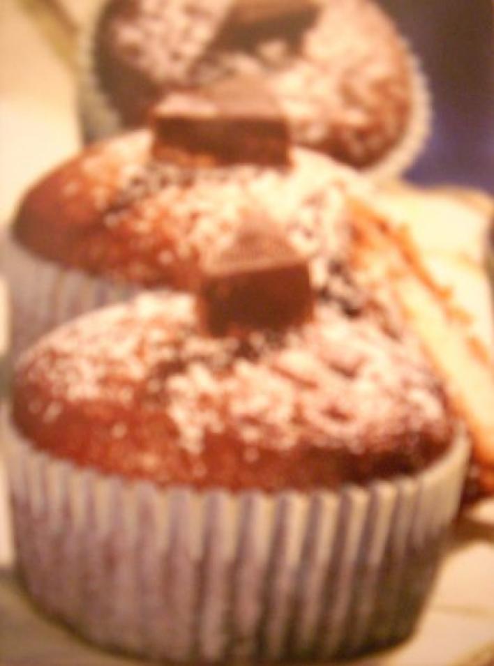 Csokoládés tejbegríz muffin